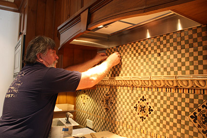 Maher Brothers with backsplash